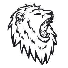 Motif Tato Singa Hitam Putih 30