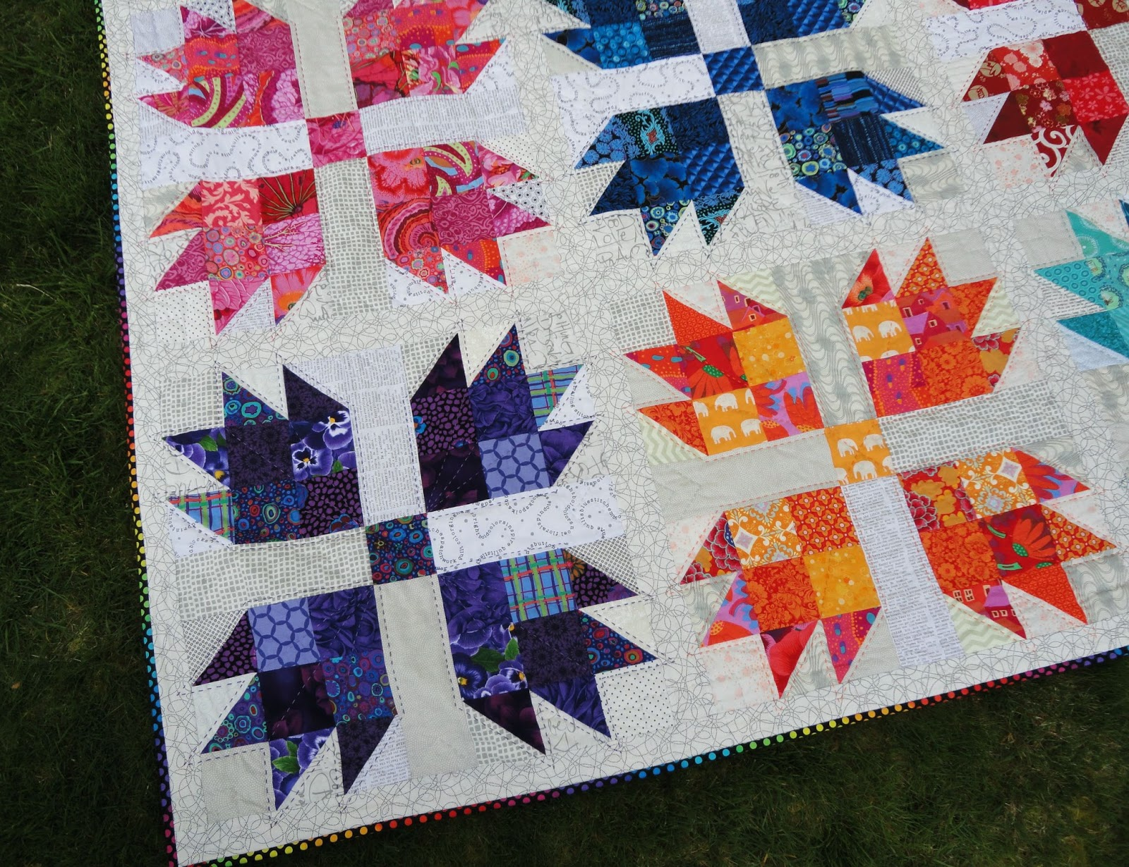 Wendys Quilts And More Scrappy Bear Paw Is Finished