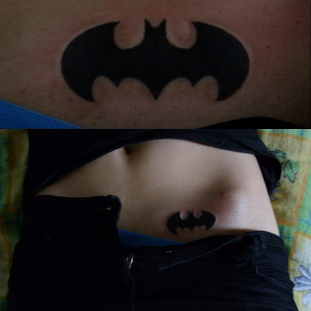 Batman Lower Stomach Tattoo