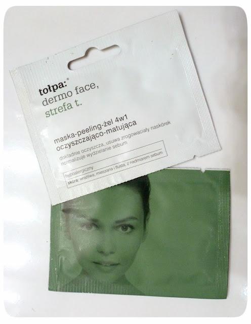 Testuję z Maliną: maska-peeling-żel 4w1, Tołpa dermo face strefa t