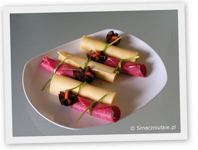 Ruloniki serowe i z salami - przystawka karnawałowa