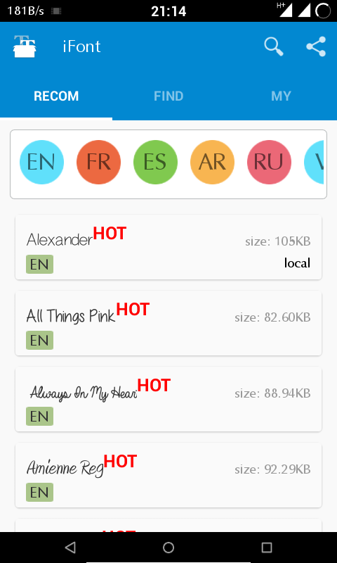 ifont android