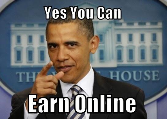 Online earning sites obama meme