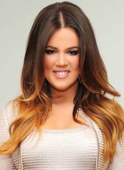 Khloe Kardashian Awesome Ombre Hairstyle Global