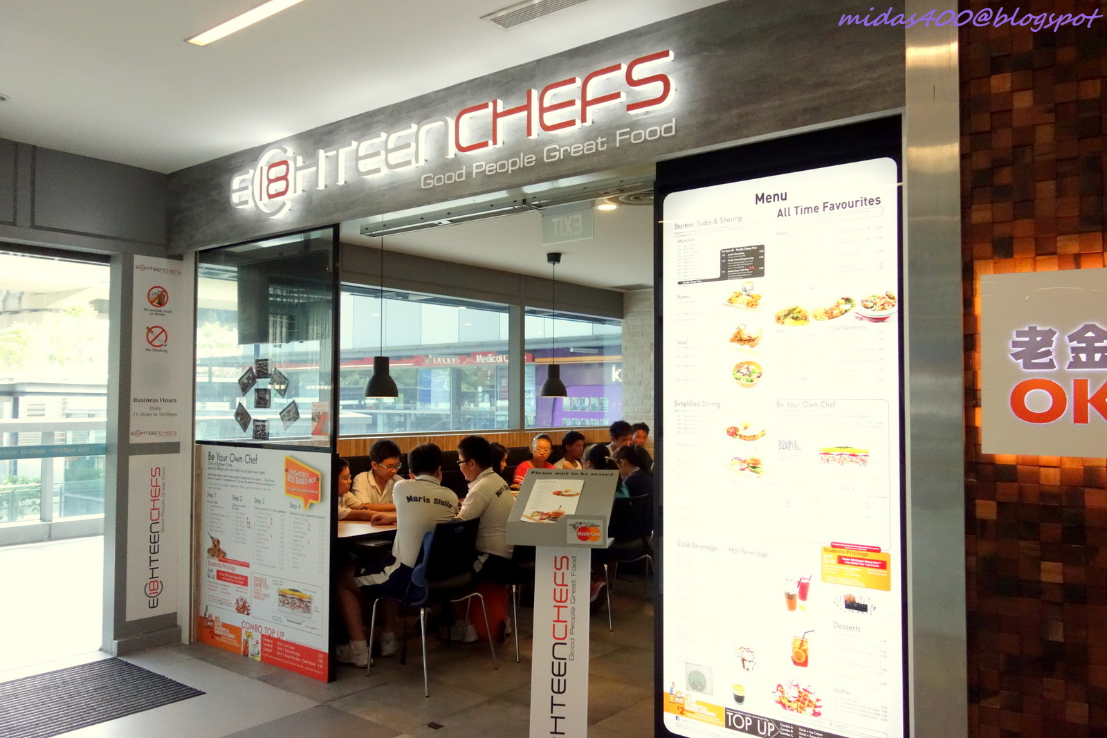 Food review eighteen chefs singapore -  Was Keen To Try But It Always Has A Long Queue During Meal Times My Opportunity Came When I Was On Leave And Had An Appointment To Fix My Hair At Nex