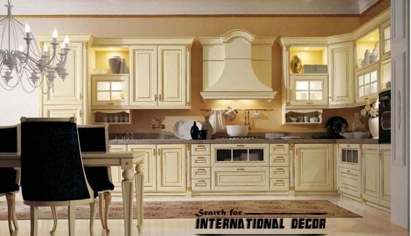 Designs of luxury kitchens in classic style