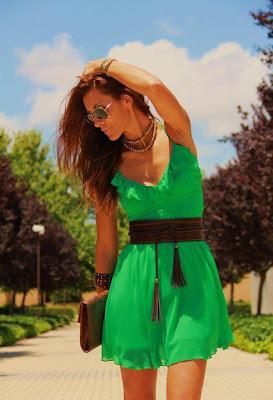 a touch of tartan copy that look green dress brown belt