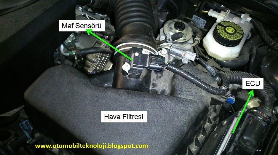 maf sensörü (hava akış sensörü) arıza belirtisi nelerdir? nasıl