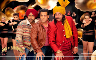 Salman Khan, Ajay Devgn, Sanjay Dutt Wallpaper Po Po Song Son Of Sardaar
