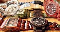 Relojes con estructura de madera