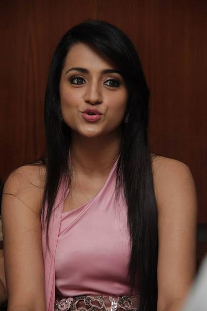 Trisha Latest Pics At Sakalakala Vallavan Appatakkar Movie Press Meet