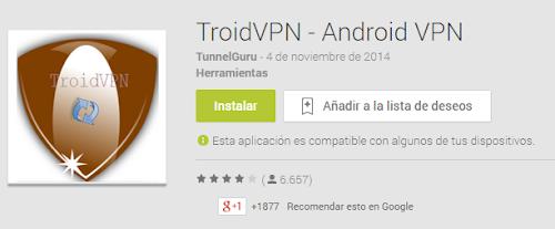 Internet Gratis Movistar México con TroidVPN en Android 2014