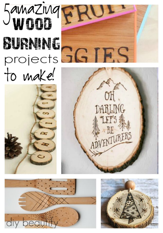 Diy inspiration for wood burning tool and giveaway diy for Wood burning craft tools