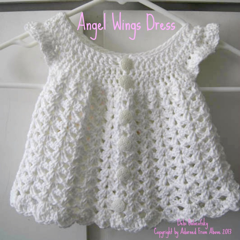 crocheted dress newborn 2 skeins white i love this cotton 1 h crochet ...