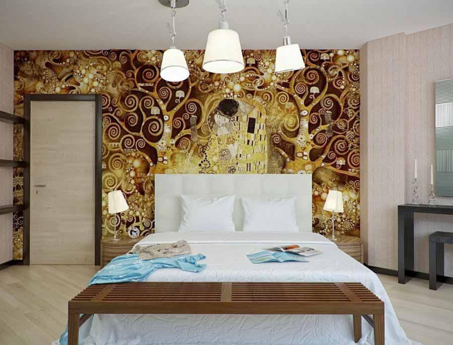 Desain Wallpaper kontemporer Dinding Untuk Rumah Minimalis
