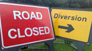 Road Closed and Diversion Street Signs