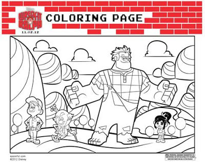 #WreckItRalph Coloring sheets, activities