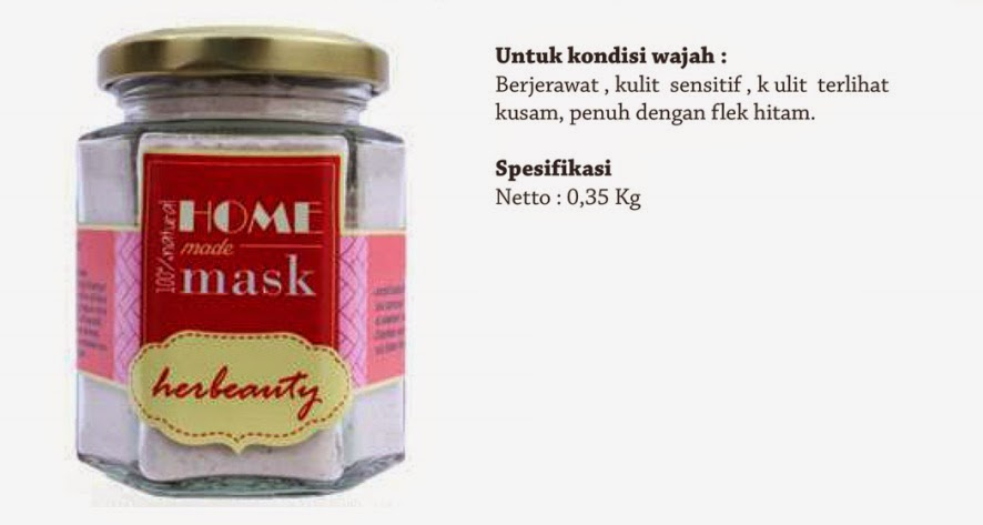 Jual Masker Wajah Herbeauty Homemade Strawberry Delight Pekanbaru