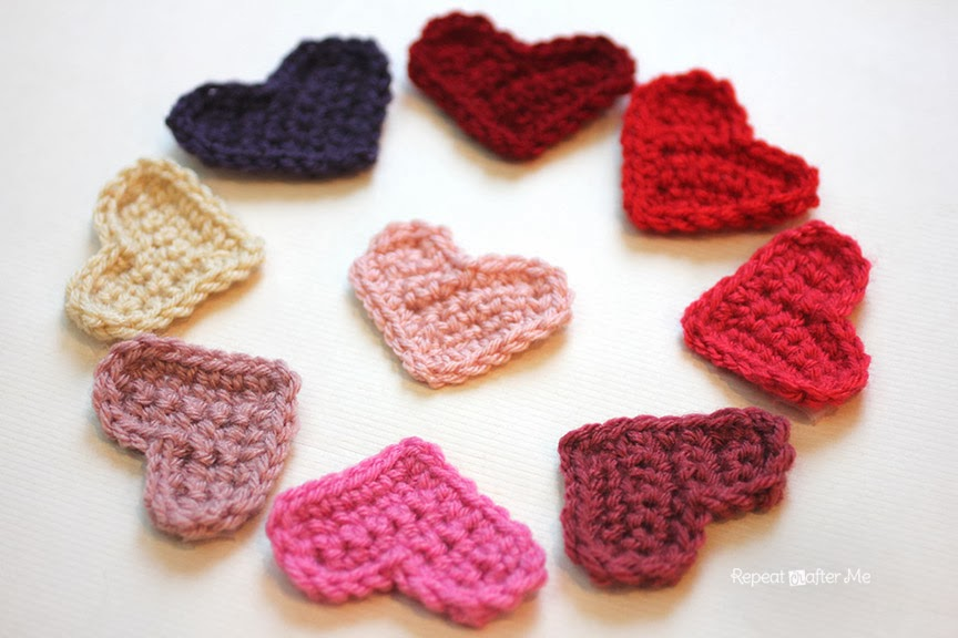Easy Crochet Heart Pattern Repeat Crafter Me Bloglovin