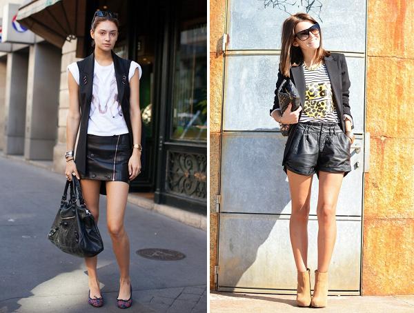 t shirt+com+couro Looks com t shirt (baby look)
