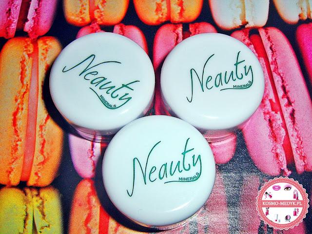 Mineralne cienie do powiek Neauty Minerals | Pansy Flower, Frosty Peach, Turquoise Stone | Makijaż