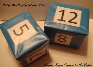 DIY Multiplication Cubes because learning should be fun!
