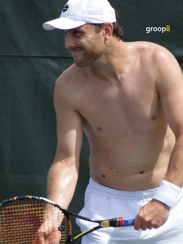 Michael Berrer Shirtless at Cincinnati Open 2010