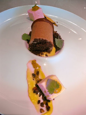 Hawksworth Valronha Milk Chocolate Mousse with Passion Fruit
