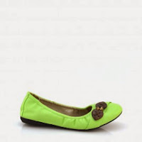 Balerini verzi Kismet din piele ecologica