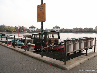 Boat parking and rubbish bins