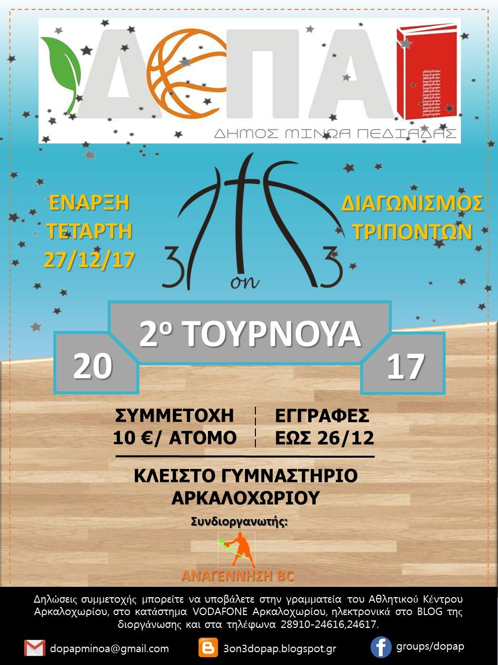 2o Τουρνουά Μπάσκετ ΔΟΠΑΠ 3on3
