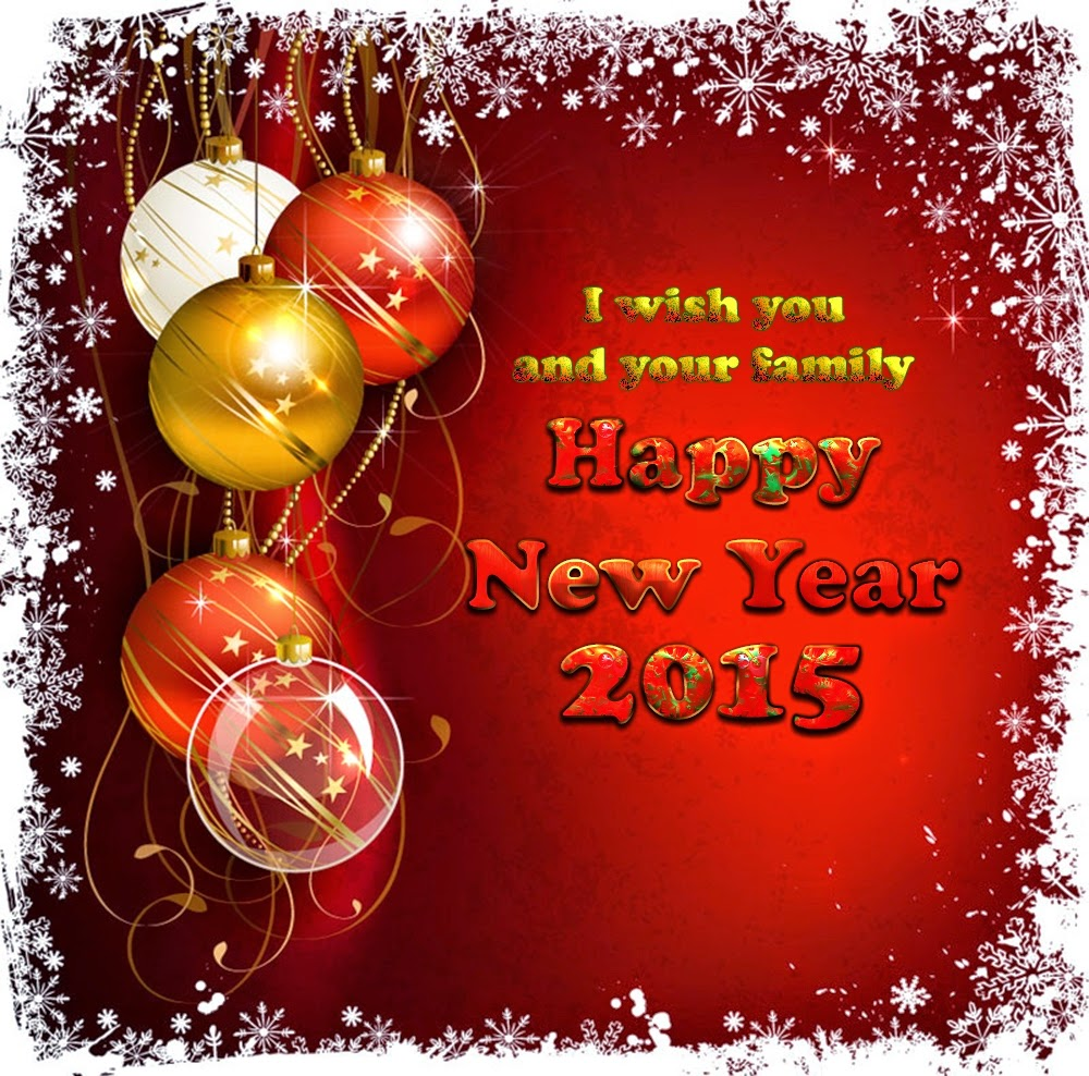 Beautiful Happy New Year Wishes 2015 eCards Royalty Free Images