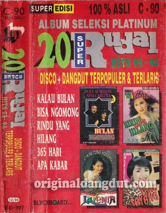 20 Super Rudal Disco Dangdut Hits 1993-1994
