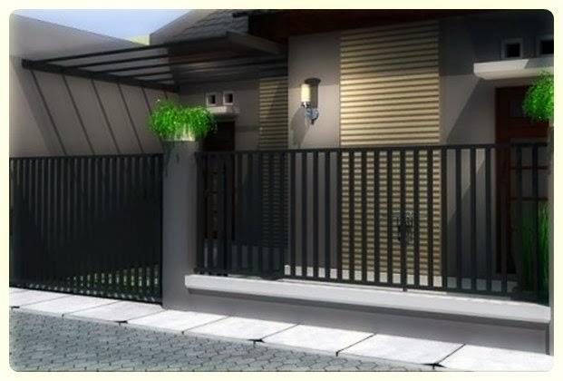 Contoh Pagar Rumah Modern Minimalis Vertikal