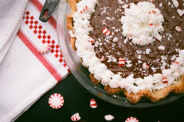 Chocolate Peppermint Cream Pie