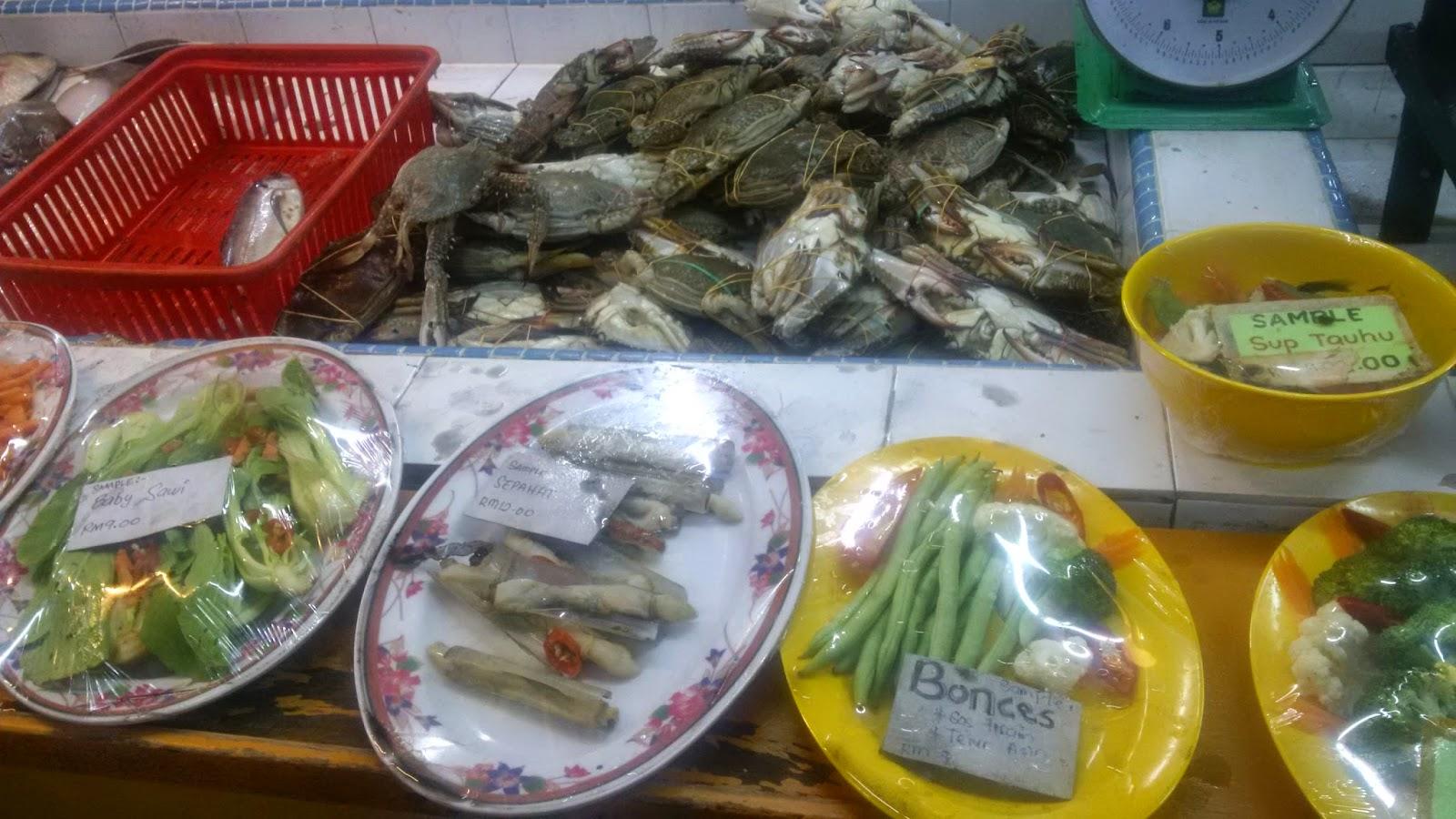 best restaurants melaka, asam pedas melaka, sea food melaka, ikan bakar parameswara, food