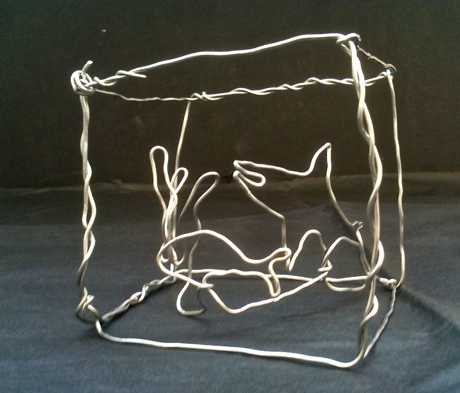 Wire Sculpture With Alexander Calder Art Link
