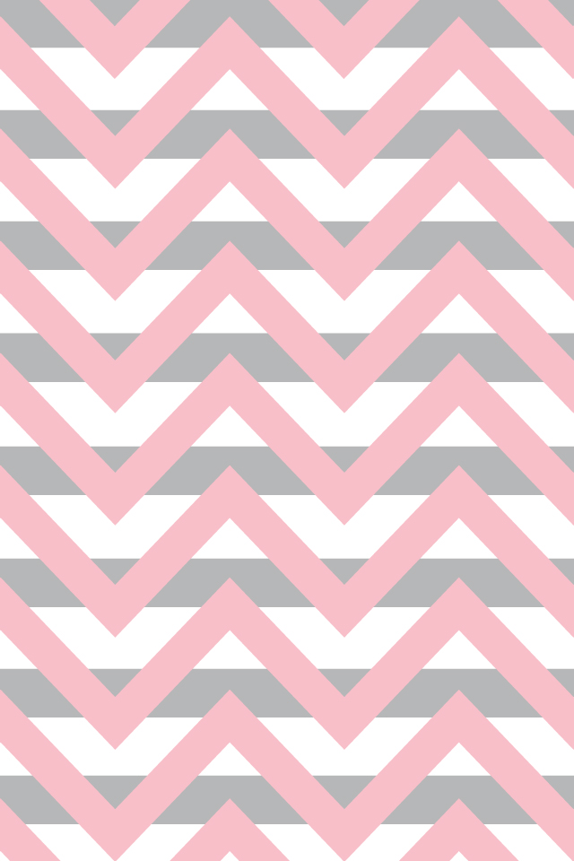 Gray And Pink Chevron Background Iphone-gray stripe with rose