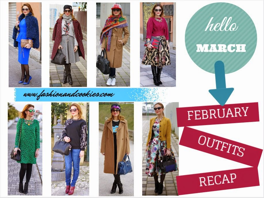 Welcome March, fashion blogger style, February outfits recap, Fashion and Cookies, fashion blogger, fashion blog