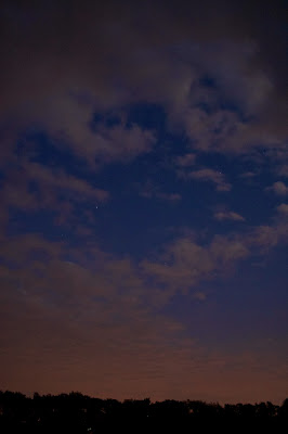 sky and orange glow
