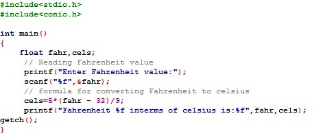 Java Program to Convert Fahrenheit into Celsius