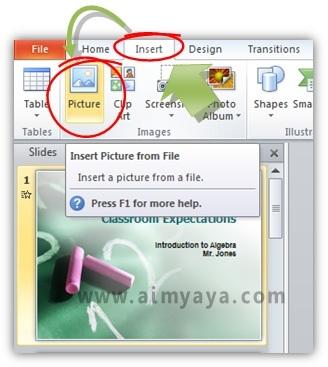 Gambar:  Cara menyisipkan animasi dengan format GIF di microsoft powerpoint