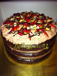 Labuan Cake - Strawberry Chocolate Mousse Cake