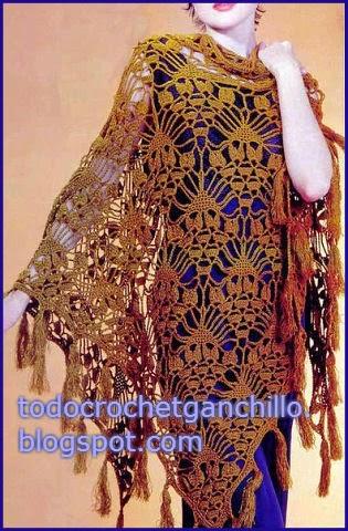 Magnífico Chal tejido al crochet