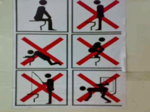Peringatan WC yang Aneh