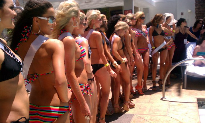Miss USA 2011 Contestants in Swim-suits at Palm Place Pool