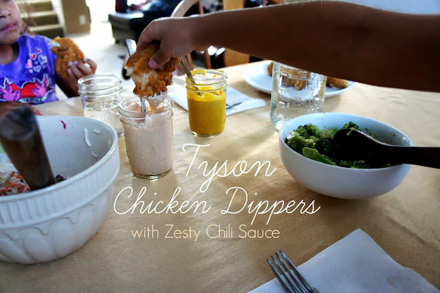 Tyson Chicken Dippers with Zesty Chili Sauce Recipe #shop