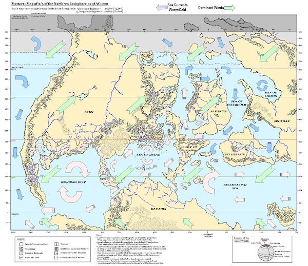 Mystara winds sea currents map
