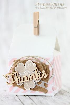 Gästegeschenke Hochzeit, Hochzeitsdeko, Stampin' Up Leckereien-Box, Gästegeschenke, Stampin Up Bestellen, Stampinup Stempelparty, Stampinup bestellen, Stempel-biene