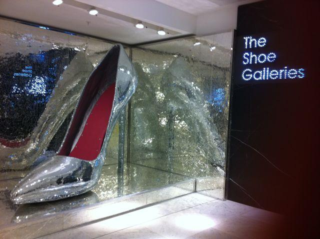 ... when Selfridges no longer has a shoe department but shoe